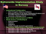 nationwide implementation study in norway