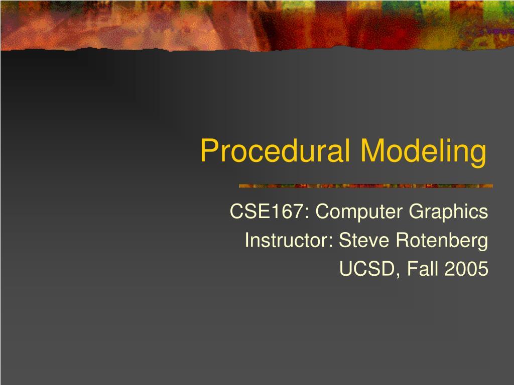 procedural modeling l.