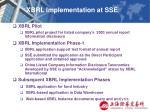 xbrl implementation at sse