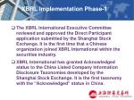 xbrl implementation phase 120