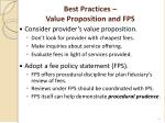 best practices value proposition and fps