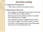 securities lending