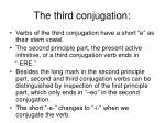 the third conjugation
