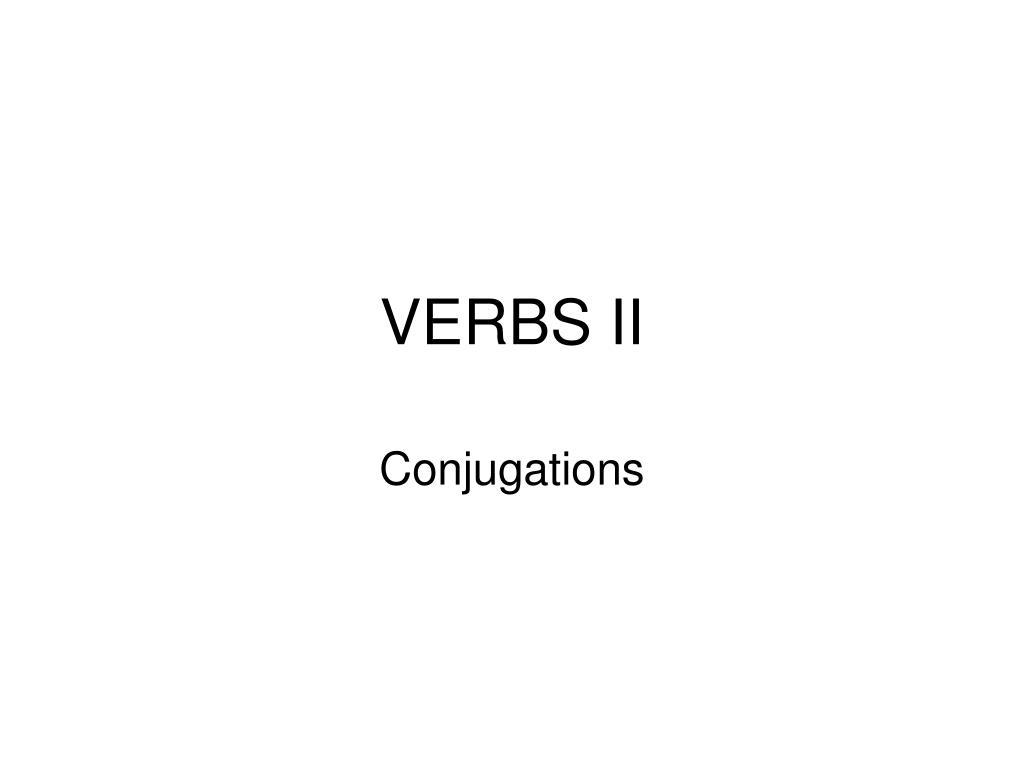 verbs ii l.