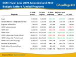 gsfc fiscal year 2009 amended and 2010 budgets lottery funded programs