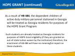 hope grant continued