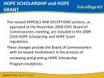 hope scholarship and hope grant