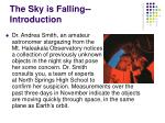 the sky is falling introduction
