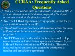 ccraa frequently asked questions