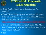 ccraa hsi frequently asked questions