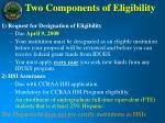 two components of eligibility