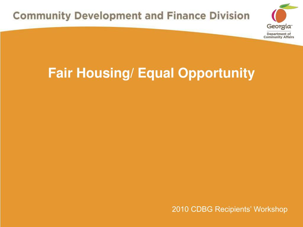 fair housing equal opportunity l.