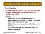 elemental standard time data