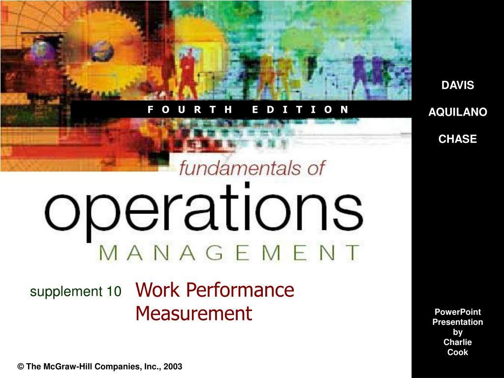 work performance measurement l.