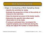 work sampling cont d20