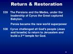 return restoration