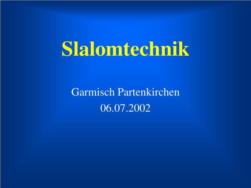 slalomtechnik l.