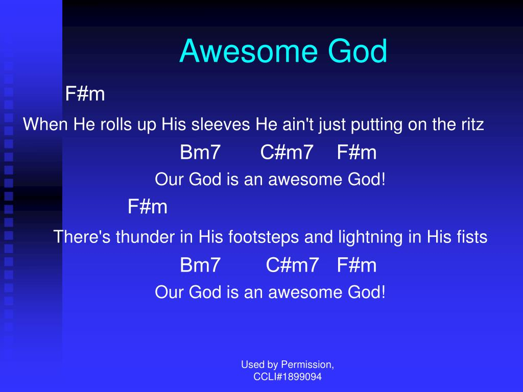 awesome god l.