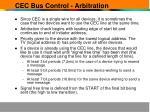 cec bus control arbitration