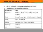 how to find cec devices