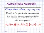 approximate approach14