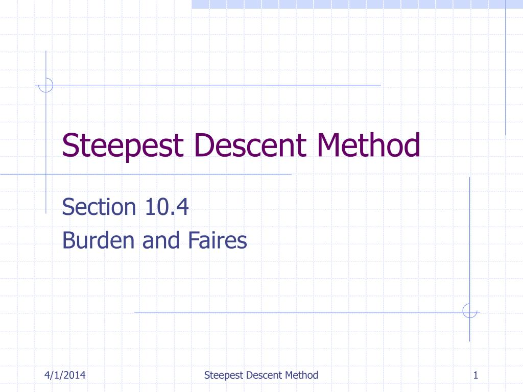 steepest descent method l.