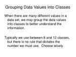 grouping data values into classes