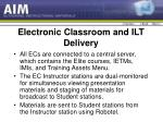 electronic classroom and ilt delivery