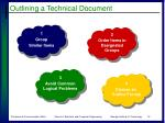 outlining a technical document