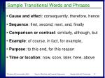 sample transitional words and phrases