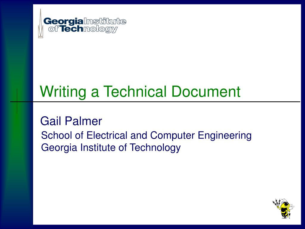 writing a technical document l.