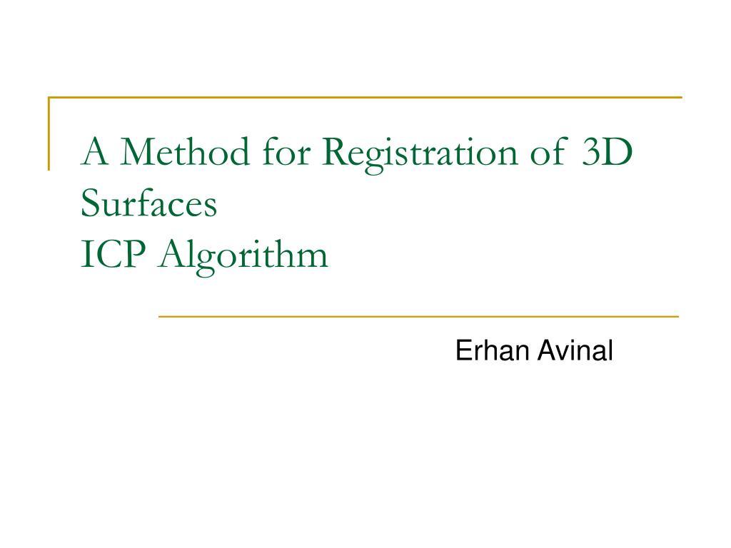 a method for registration of 3d surfaces icp algorithm l.