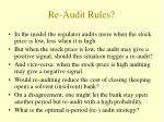 re audit rules