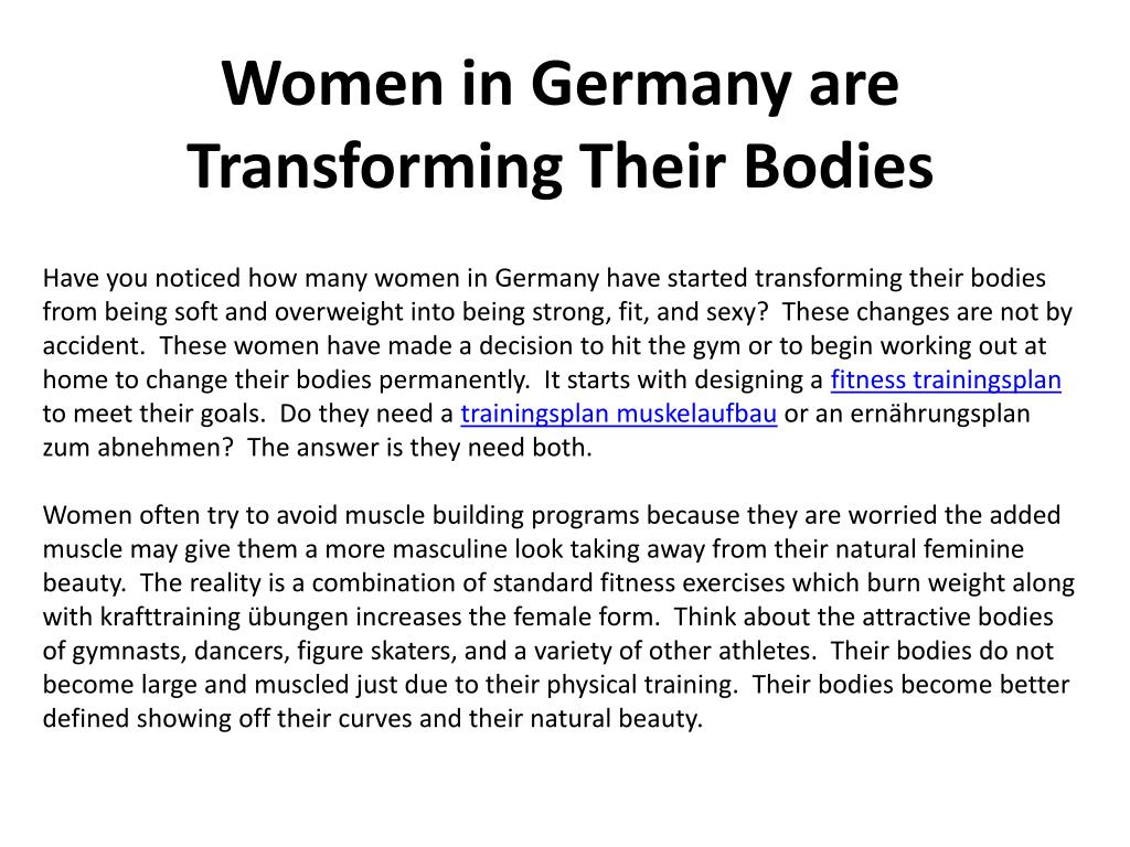 women in germany are transforming their bodies l.