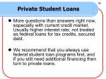 private student loans