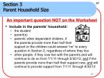 section 3 parent household size