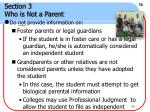 section 3 who is not a parent