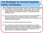 top strategies to minimize expected family contribution