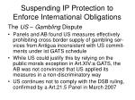 suspending ip protection to enforce international obligations