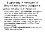 suspending ip protection to enforce international obligations11