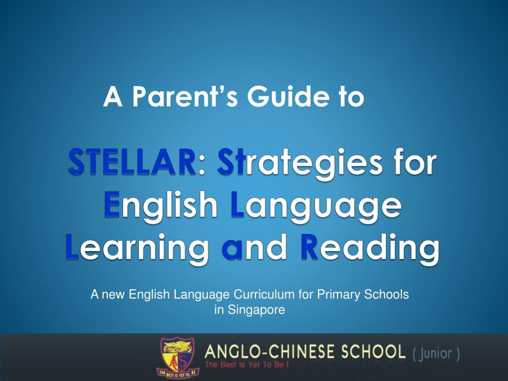stellar st rategies for e nglish l anguage l earning a nd r eading l.