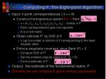 computing f the eight point algorithm