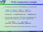 n bit compression example