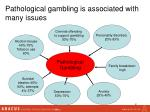 pathological gambling is associated with many issues