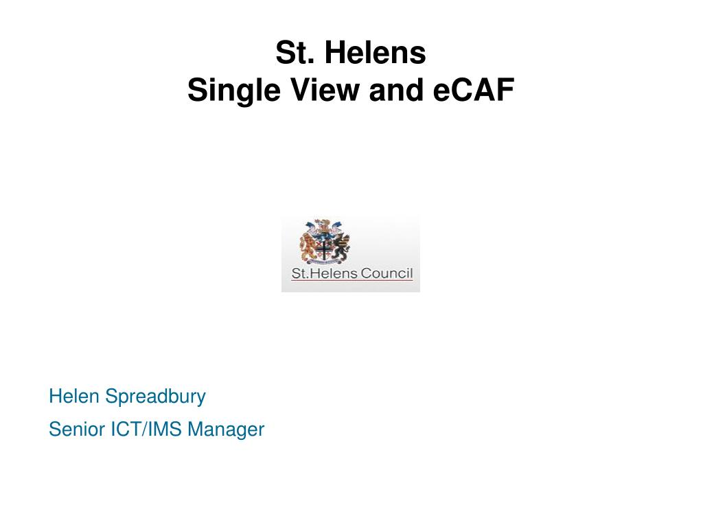 st helens single view and ecaf l.