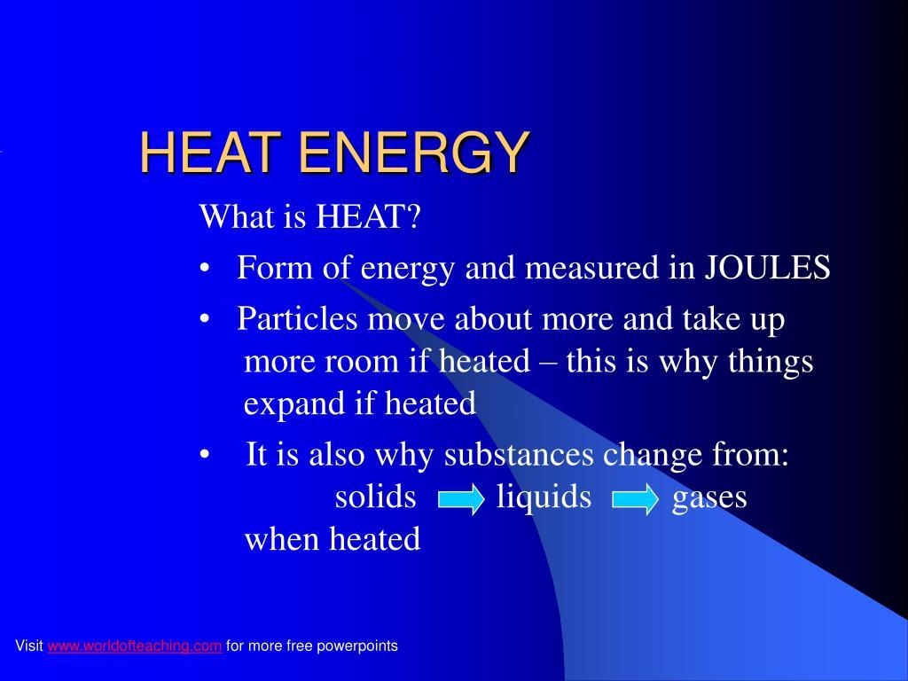 heat energy l.