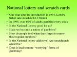 national lottery and scratch cards