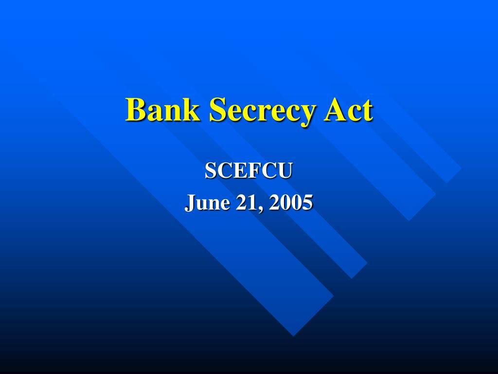 bank secrecy act l.