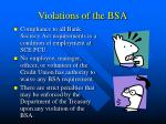violations of the bsa