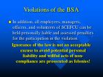 violations of the bsa28